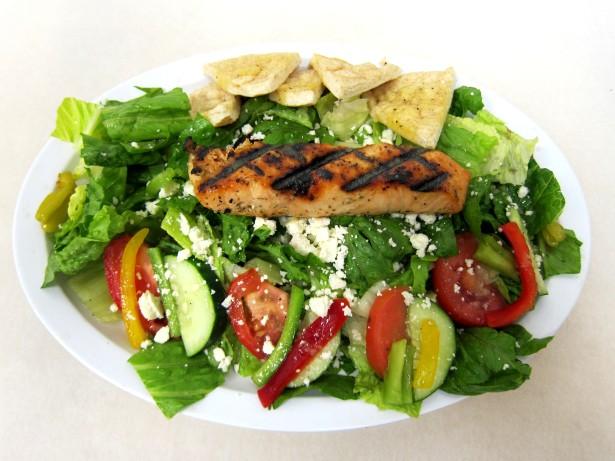 Greek Salad with Salmon
